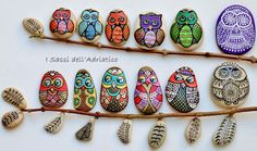 Painted Owl Stones