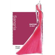 PANTONE Fashion Color Report Fall 2014 –Sangria – Monique Lhuillier