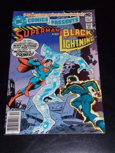 1979 DC Superman and Black Lightning #16 Comic Book Free Shipping!!