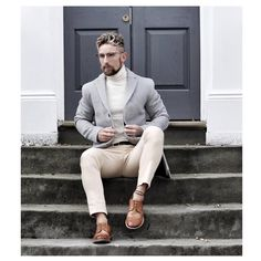 Stanley Dru is a successful businessman who runs a luxury grooming products company and a very popular fashion and lifestyle blogger. Neutral Tones, Male Fashion, Winter Wear, Fashion Bloggers, Popular, Running, Lifestyle, Luxury, Grey