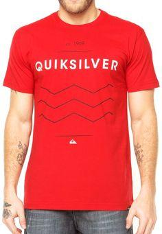 fea44b4181955 Camiseta Quiksilver Vermelha - Compre Agora