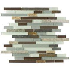 Merola Tile Tessera Piano Tundra Glass/Stone Home Depot bagsbykzk