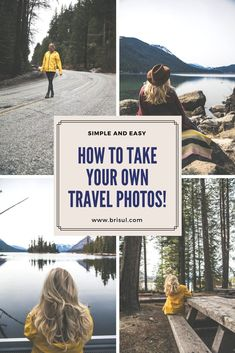 Taking your own photos. A simple and easy guide! Travel Europe Cheap, Packing Tips For Travel, Travel Goals, Photography For Beginners, Photography Poses, Nature Photography, Travel Photography, Travel Logo, Travel Usa