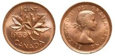 """Top 10 Rare Canadian Pennies include the 1936 dot penny, the 1955 """"No Shoulder Fold"""" (NSF) and 1954 NSF. These are very valuable pennies indeed. Valuable Pennies, Rare Pennies, Valuable Coins, Canadian Penny, Canadian Coins, Canadian Bacon, Elizabeth Ii, Thousand Dollar Bill, Penny Values"""