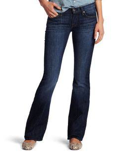 7 For All Mankind Women's Petite Bootcut Short Inseam Jean in Nouveau New York Dark