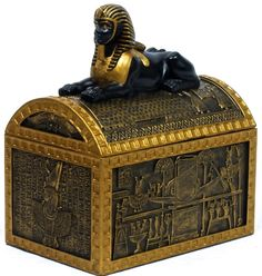 Ancient Egypt Sphinx Jewelery Box. Just like the pieces I imagined belonging to the Trove of Isis--an ancient Egyptian treasure Lydia Hartley is determined to find.
