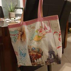 Céli D Chouett' sur Instagram: Un grand sac très pratique quand on est une maman ! 🤯😄 Réalisé à partir du patron cabôtin de chez sacôtin