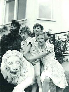 King Baudouin, King Albert II, and Grand Duchess Josephine Charlotte of Belgium