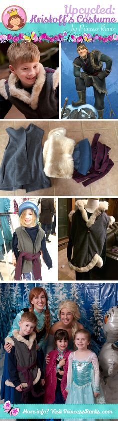 This Kristoff costume was made using items found at our local thrift store for less than $10!  See the details at http://www.princessrants.com/princessrants/2014/6/21/making-the-kristoff-costume