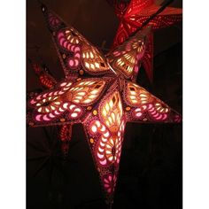 Adding a glowing light to any room dec'd out for Christmas with one of our paper star lamps Star Lamp, Tree Shop, Paper Stars, Lampshades, Norfolk, Fair Trade, Glow, Goodies, Artisan