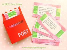 24 FREE printable Fairy Notes to help you keep your little ones on the Nice List in December. Use with our Fairy Post Box and a beautiful Fairy Door. Available in our Fairy Circle - its FREE to join.