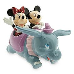 Dumbo with Mickey and Minnie Mouse Salt and Pepper Set | Disney Store Give mealtimes a lift with this figural salt and pepper set. Mickey and Minnie enjoy a fun ride aboard Dumbo the Flying Elephant with this three-piece set inspired by the Fantasyland attraction.