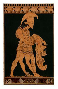 """Penthesilea (Πενθεσιλεια significa """"llorado por el pueblo"""") fue una reina amazónica que llevó a sus tropas a Troya en apoyo del rey Priamo, durante la guerra de Troya. Ella misma cayó por la mano de Aquiles, que lloró por la reina y su belleza, juventud y valor. Cuando el héroe levantó su yelmo se enamoró y aceptó devolver su cuerpo ileso a los troyanos para un entierro apropiado."""