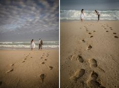 Just 2 sets of footprints. it's like you have your very own beach St Francis, 2 Set, Wedding Ceremony, Footprints, Gallery, Beach, Water, Outdoor, Weddings