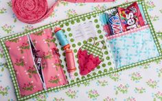 It is common knowledge that a quilter is in need a lovely binding kit. I bind more than a few quilts every year, so a portable binding kit is essential for me. Whether I'm out on the road or at home,