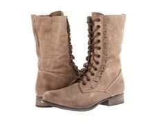 Betsey Johnson Litza Taupe Leather - 6pm.com 8.5 taupe leather