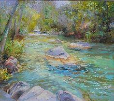 Merrily Down the Stream by Christine Debrosky Pastel ~ 16 x 18