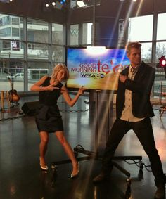 Julianne & Josh at the Good Morning Texas set