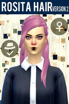 Rosita Hair V2 at Simduction • Sims 4 Updates