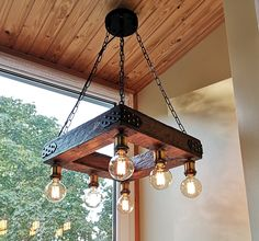 Farmhouse Style Lighting For Your Home Vintage Industrial Lighting, Rustic Lighting, Modern Industrial, Modern Lighting, Lighting Design, Modern Rustic, Rustic Light Fixtures, Hanging Light Fixtures, Rustic Chandelier