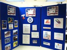 School outreach display board.