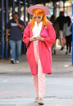 Paloma Faith spotted in NYC wearing our pink shaker hat. Available in store and online at riverisland.com #riverisland