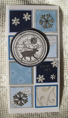 Moski: Reindeer stamp with silver embossing