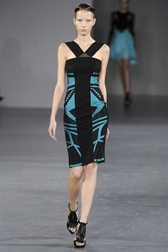 black and blue David Koma dress