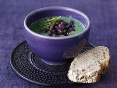 Суп из шпината с фасолью