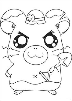 Hamtaro Coloring pages for kids. Printable. Online Coloring. 6