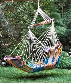 """comfortable looking hammock-chair""  You shall not feel like a fly in a spider's web any more!!"