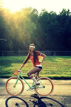 Don't forget to dress up cool in addition to your cool bike for a ride in style