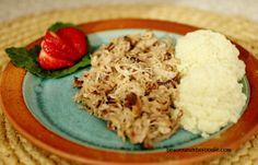Crock Pot Luau pork with Cauliflower Rice / Paleo and Low carb. Make smoked, Hawaiian, luau pork in your crock pot. Easy to make island flavor~