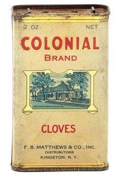 Colonial Spice Tin | Antique Advertising Value and Price Guide