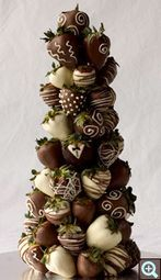Great idea to make your own Chocolate dipped strawberry tree Personalized Chocolate Favors, Chocolate Wedding Favors, Candy for Events - Amy Peterson Chocolates | Candy Buffet Weddings and Events | Scoop.it