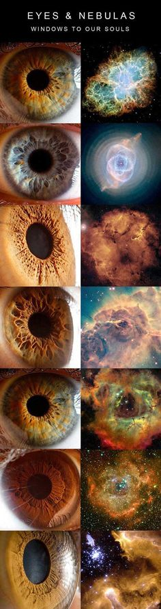 EYES AND NEBULAS. We were amazingly created <3