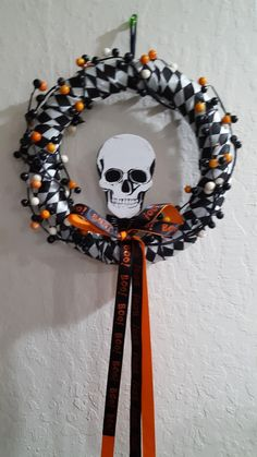 Boo Ribbon Halloween Wreath Handmade Gifts For Men, Gifts For Friends, Birthdays, Arts And Crafts, Ribbon, Wreaths, Halloween, Things To Sell, Anniversaries
