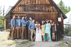 Musical Camp Wedding Bridal Party