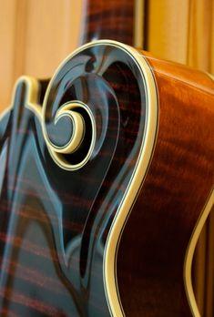 Mowry F5 mandolin scroll