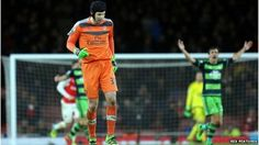 Arsenal goalkeeper Petr Cech will be out for three to four weeks with a calf injury, says manager Arsene Wenger.