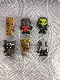 GALAXY SHOE CHARMS FITS CROCS GALAXY CLOG CHARMS STAR-LORD GROOT SHOE CHARM #Unbranded
