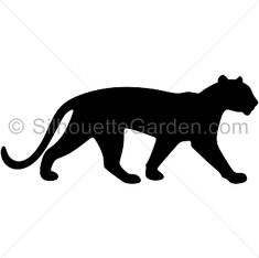Panther silhouette clip art. Download free versions of the image in EPS, JPG, PDF, PNG, and SVG formats at http://silhouettegarden.com/download/panther-silhouette/