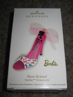 Hallmark Ornament 2012 SHOE-LICIOUS! BARBIE Christmas Treats, Christmas Ornaments, Christmas Barbie, Hallmark Ornaments, Girly Girl, Decoration, Ebay, Collection, Barbie Movies