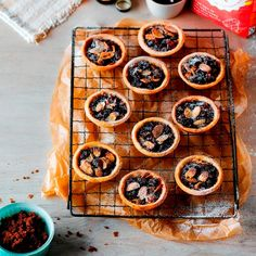 These pastry tarts are named after the village of Ecclefechan in Dumfries and Galloway and have a treacly filling of dark muscovado sugar, dried fruit and cherries. A Food, Food And Drink, Mince Pies, Tart Recipes, Cooking Recipes, No Bake Desserts, Dessert Recipes, Recipe Today, Deserts