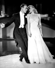 Ginger Rogers and Fred Astaire in Swing Time. The set and the dress, everything is perfect in this dance. my fav dance sequence of all time between fred and ginger. Ginger Rogers toes were bleeding they practice so much, but all you is pure cinema dream Golden Age Of Hollywood, Vintage Hollywood, Hollywood Glamour, Hollywood Stars, Classic Hollywood, Ginger Rogers, Shall We Dance, Just Dance, Tanz Poster