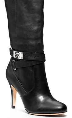 Black coach boots.  Dear Lord, just let me wear these for one night without falling on my ass and embarrassing myself completely.  Amen!