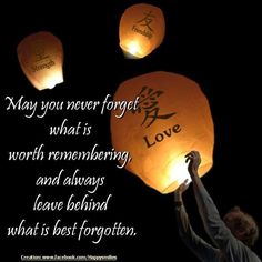 Never forget what is worth remembering