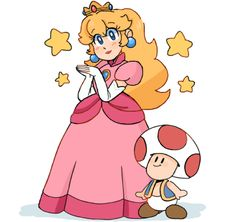 Peach and toad