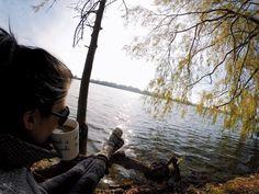 Lakeside autumn tea // Waterford, Ontario // wearing @royalrobbins coat Lake Nicaragua, Norfolk County, Seattle Travel, Autumn Tea, 100 Things To Do, Emerald Lake, Romantic Getaways, Travel Themes, South Pacific