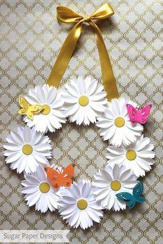 Paper flower wreath